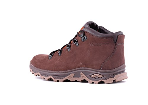 camminata da Scarponcini Leather uomo TREK escursionismo ed Marrone Genuine Impermeabile Andes HtgOHwqnR