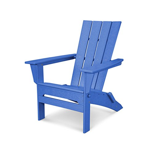 POLYWOOD QNA110PB Adirondack Chair, Pacific Blue For Sale