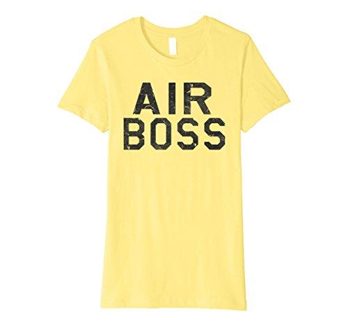 Womens Air Boss Aircraft Carrier Deck Boss Military T-Shirt Large Lemon (Deck Aircraft Flight)