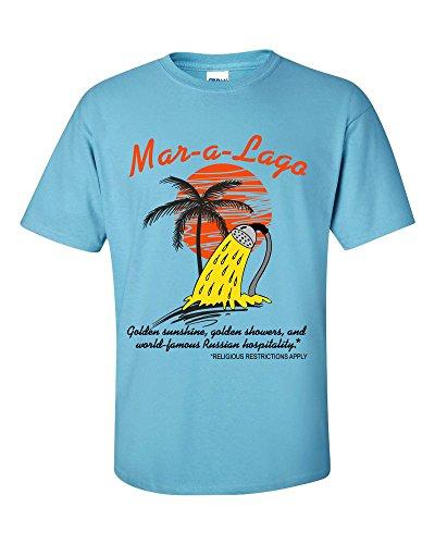 Mar-a-Lago Florida Golden Shower Mens T-Shirt - Funny Donald Trump T-Shirt