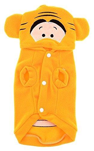 eDealMax Con Capucha de Manga Corta de un Solo pecho perro de Animal domstico del perrito ropa de invierno, Grande, Amarillo