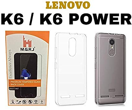 huge selection of 622bc 476a7 MGRJ® Transparent Back Cover for Lenovo K6 Power/Lenovo K6 (Soft & Flexible  Back Cover)