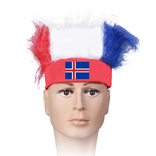 Raylans Mens Womens Football Soccer Fans Wig 31 Countries World Cup Cheerleading Fuzzy Head Wig Canada