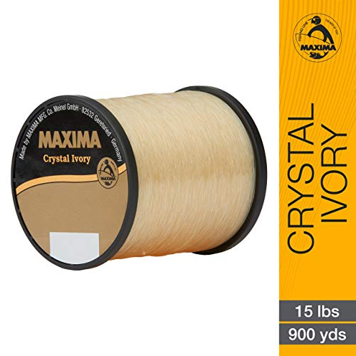 - Maxima Fishing Line Guide Spools, Crystal Ivory, 8-Pound/1000-Yard