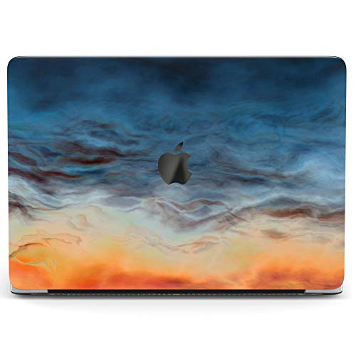 Wonder Wild Case for MacBook Air 13 inch Pro 15 2019 2018 Retina 12 11 Apple Hard Mac Protective Cover Touch Bar 2017 2016 2015 Plastic Laptop Dark Sky Abstract Paint Watercolor Sunset Blue Orange]()
