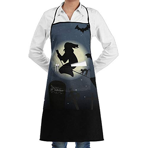 Happy Halloween Bat Witches Black Cat Tombstone BBQ Waiter Housekeeper Pet Grooming Bartender Kitchen Beautician Hairstylist Nail Salon Carpenter Shoeing Wood Painting Artist Pocket Apron]()
