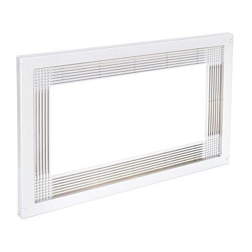 🥇 Emuca 8934715 Marco para encastrar microondas en mueble de 60cm en plástico blanco