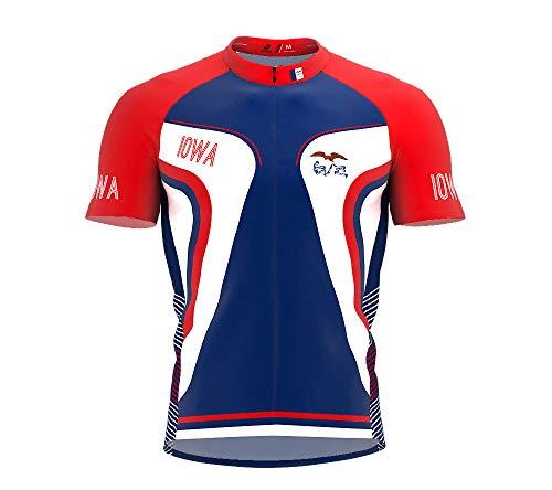 - ScudoPro Iowa Bike Short Sleeve Cycling Jersey for Men - Size L