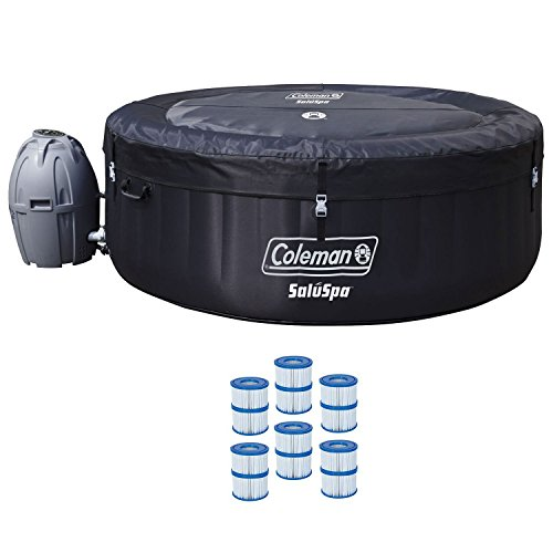 Coleman 71'' x 26'' Inflatable Spa 4-Person Hot Tub with 6 Filter Cartridges by Coleman