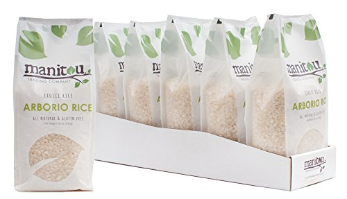 Arborio Rice by Manitou Trading Company, 18-Ounce, 6 Pack Sleeve by Manitou Trading Company
