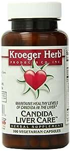 Kroeger Herb Candida Liver Care Vegetarian Capsules, 100 Count