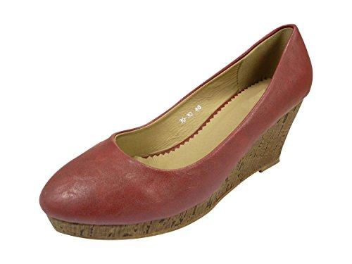 Chaussmaro - Zapato de vestir Mujer granate