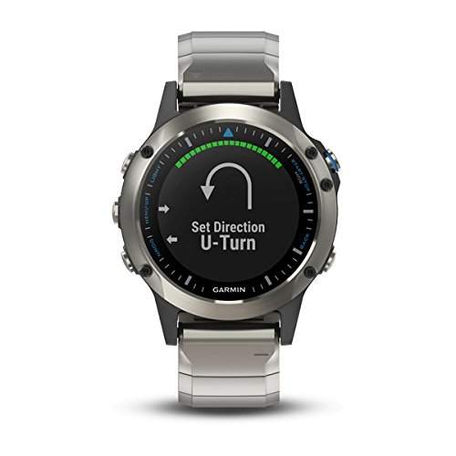 Garmin quatix 5 Sapphire, Multisport Marine Smartwatch, Comprehensive Boat Connectivity, Stainless Steel/Metal - Marine Stainless Wrist Watch Steel