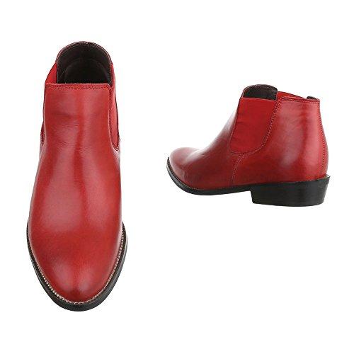 ... Damen Stiefeletten Schuhe Stiefel Used Optik Leder Boots Schwarz  Schwarz Beige Rot 36 37 38 39 ... d55a0a11ab