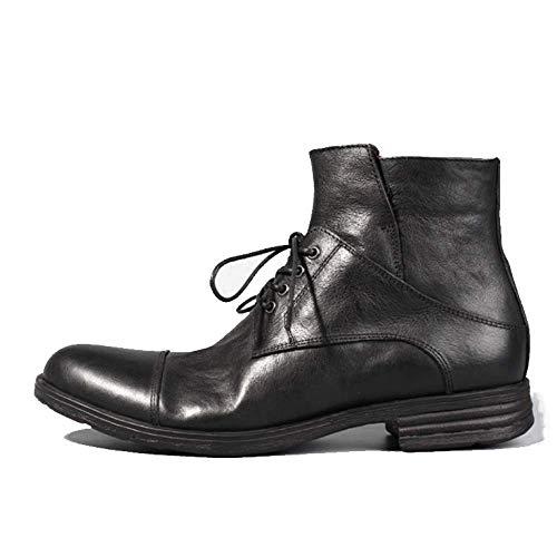 Cowboy Black Stivali Retro E Moda Casual Stivali Stringati Europa Coreano America NIUMT da 1wnPgATOqT