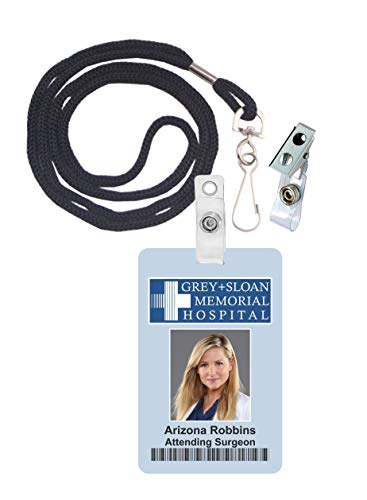 Arizona Robbins, Grey's Anatomy Novelty ID Badge Film Prop for Costume and Cosplay • Halloween and Party -