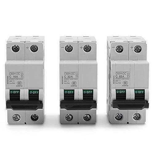 AMZVASO - 250V C65H-DC 2P Circuit Breaker Low-voltage Miniature Air Circuit Breaker Solar Energy Switch 16A 32A 63A Circuit Breaker
