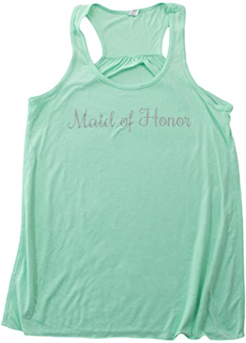 JTshirt.com-19834-Maid of Honor | Flowy, Silky, Fashionable Racerback Women\'s Bridal Tank Top-B00TKTX6CQ-T Shirt Design
