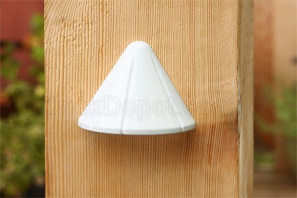 Aurora Deck Lighting Mini Vega Post Light, 12V, 1W, White PLA8500