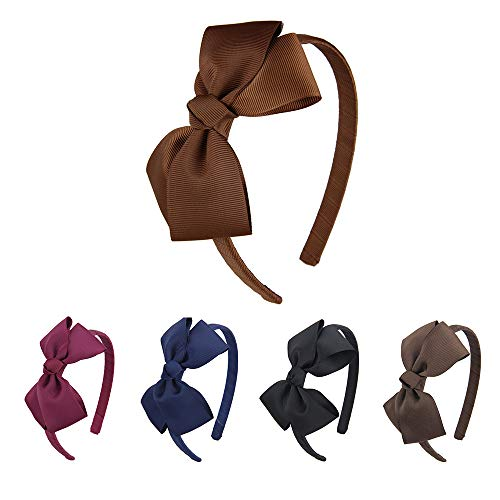 7Rainbows Girls Boutique Grosgrain Ribbon Headband with Bows (5 pieces a set) -