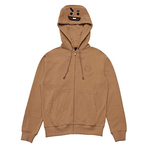 BT21 Official Merchandise by Line Friends - SHOOKY Costume French Terry Hoodie Sweatshirts for Men and Women, Small, Brown ()