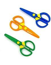 JIALEEY Plastic Child-Safe Scissor Set, Toddlers Training Scissors, Pre-School Training Scissors and Children Art Supplies(3pcs)