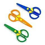 JIALEEY Plastic Child-Safe Scissor Set, Toddlers