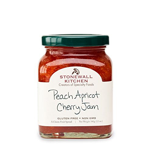 Stonewall Kitchen Jam, Peach Apricot Cherry, 12 Ounce