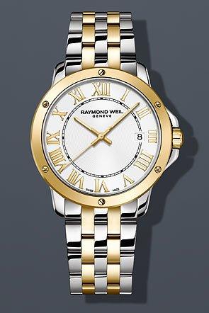 Raymond Weil White Bracelet - Raymond Weil Tango Silver Dial Two Tone SS Quartz Male Watch 5591-STP-00308
