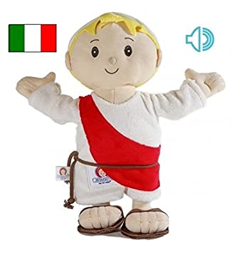 Jesusito de mi vida Peluche Bambino Gesù 30 cm. 3 Preghiere Italiano (Ref.