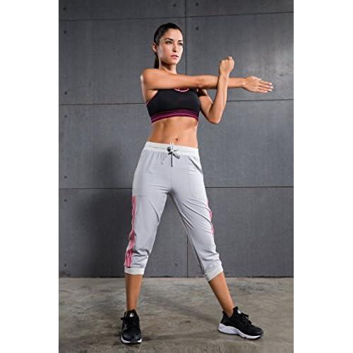 2329a2bdcad7a Cody Lundin® Femme Pantalon Corsaire 3 4 Sport, Legging de Running Sport  Pantalon