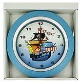 Children's Pirate Ship Bedroom Silent (No Ticking) Wall Clock - 9.5'' in Diameter