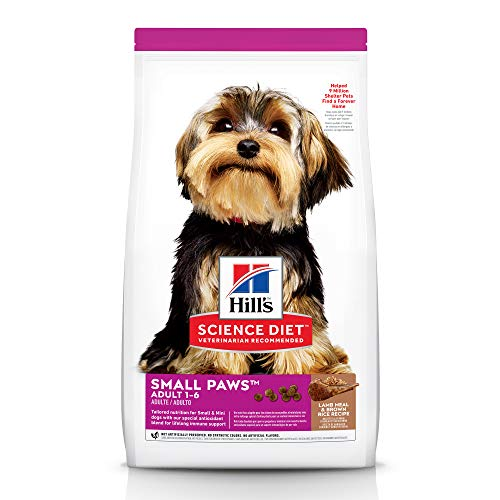 Hill's Science Diet Dry Dog Food, Adult, Small Paws for Small Breeds, Lamb Meal & Brown Rice Recipe, 15.5 lb Bag