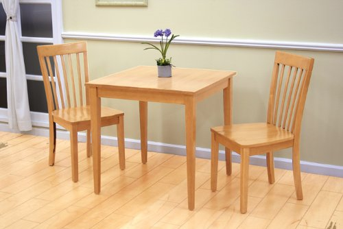 30-Square-Maple-Finish-Wood-Dining-Room-Kitchen-Table-2-Chairs