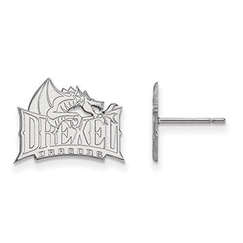 - FB Jewels Sterling Silver LogoArt Drexel University Small Post Earrings