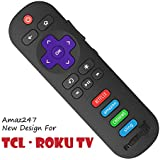 Amaz247 New Remote RC280 for TCL ROKU TV w/Volume Control and TV Power Button