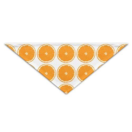 ALLMYHOMEDECOR Dog Bandanas Scarfs Orange Color Fruit Triangle Bibs Scarves Retro Basic Dogs Kerchief Costume Accessory Pet Neckerchief Cat Collars Holiday Birthday Gift