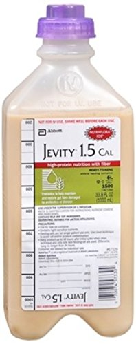 Jevity 1.5 Cal/Ml High-Protein Nutrition With Fos And A Patented Fiber Blend 1-Liter Ready To Hang With Adapter Cap – 1 Case Of 8