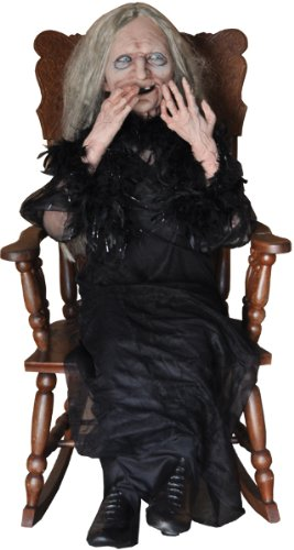 Electric Chair Prop (Laughing Hag Animated Prop - Product Description - Hag Rocks Back And Forth, Laughing Maniacally. Soundtrack Cd Included.You Provide A Chair And Cd Player. Arms Can Be Positioned. All Electric! Clothing May Vary.. Box = 30 X 15 X 15. Weight = 22 ...)