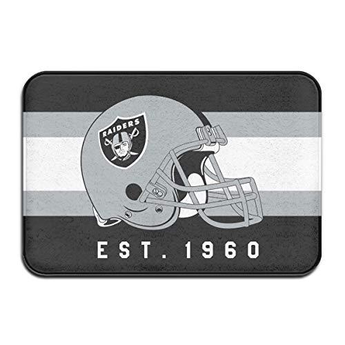 Jacoci Custom Oakland Raiders Doormats Non Slip Heavy Floor Door Mats Rugs Bahroom Decor Standard Size 15.7 X 23.6 Inches