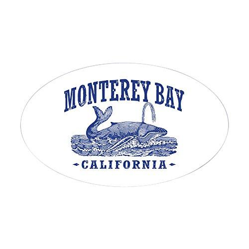 CafePress Monterey Bay Oval Bumper Sticker, Euro Oval Car Decal