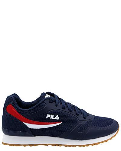 White Sneakers Fila (Fila Mens Forerunner 18 Sneaker, White/Navy/Gum, 13)