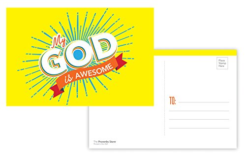 Prayer Card Postcards - My God Is Awesome Christian Religious Bible POSTCARDS (30 Pack)