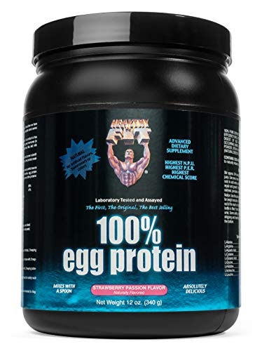 (Healthy 'N Fit 100% EGG PROTEIN- Strawberry (12oz): 100% Egg White Protein PLUS Natural Peptides. The Highest Quality, Purest, Most Effective, All Natural Protein.)