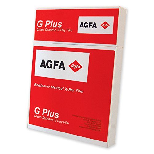 AGFA RADIOMAT PCG2430 X-Ray Film, Full Speed, 24 cm x 30 cm, Green Sensitive (Pack of ()