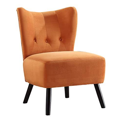 Homelegance Imani Velvet Accent Chair, Orange