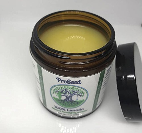 100% Pure Lanolin USP Blended with Organic Essential Oils for Itchy Dry Skin and Eczema Symptoms by ProSeed Holistic Wellness