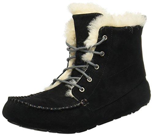 Pantofole In Camoscio Nero Ugg Australia Mocassino Mocassino Donna