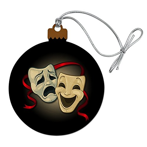 GRAPHICS & MORE Drama Comedy Tragedy Masks Theater Wood Christmas Tree Holiday Ornament