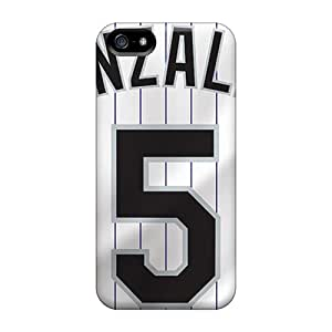 Iphone 5/5s Case Bumper Tpu Skin Cover For Colorado Rockies Accessories